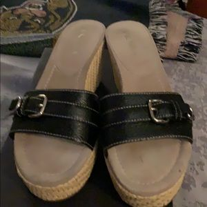 Prada slip on wedges